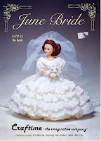 Vestido de Noiva de Tricô Para Boneca June Bride  receita de tricô