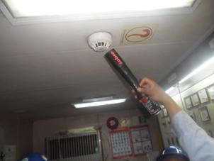 Testing with smoke on smoke detector