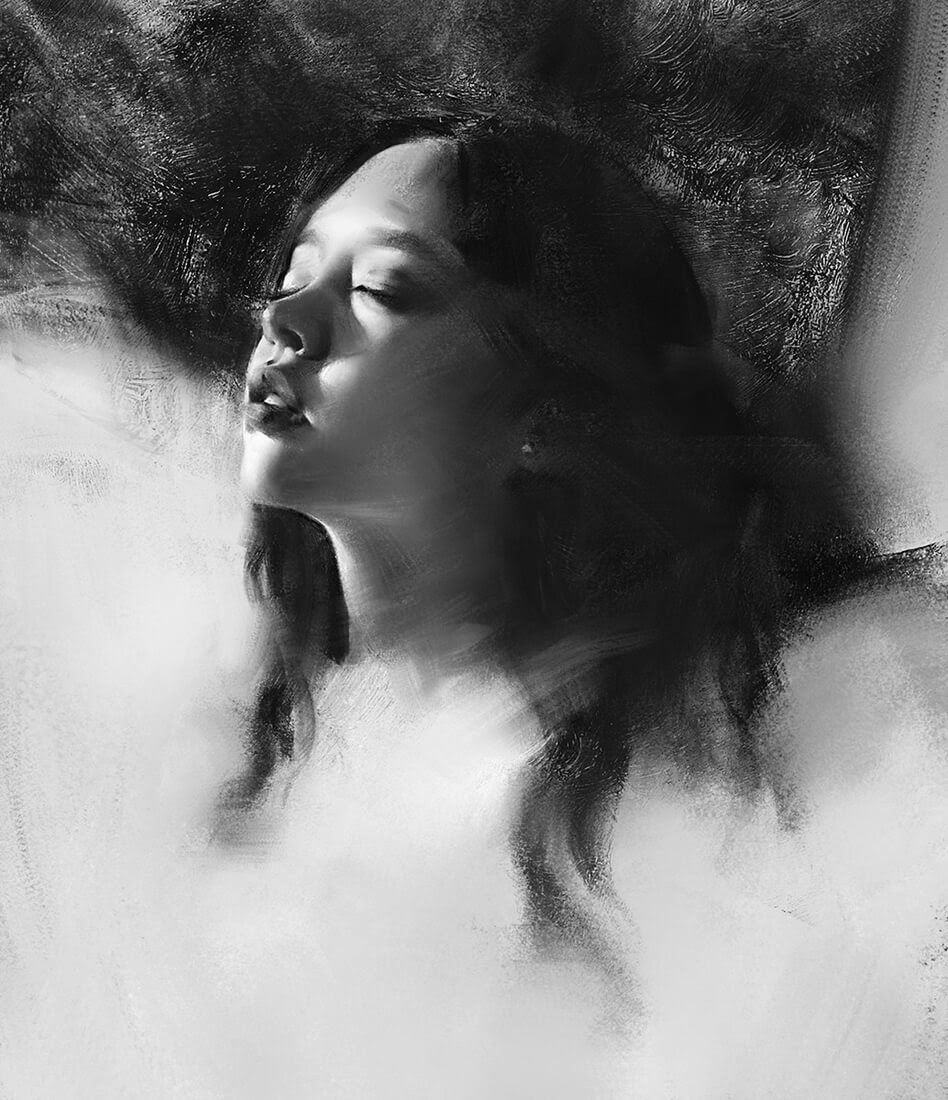 07-Yizheng-Ke-Charcoal-Portrait-Drawing-in-Different-Poses-www-designstack-co