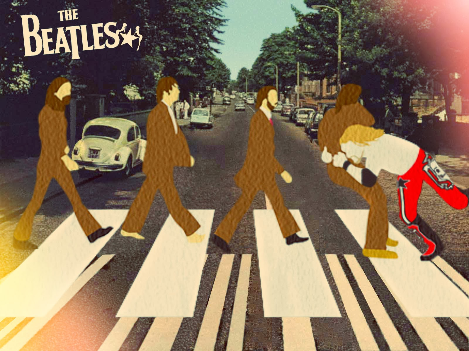 The rated r beatles carlosryderboy the beatles edge - The simpsons abbey road wallpaper ...