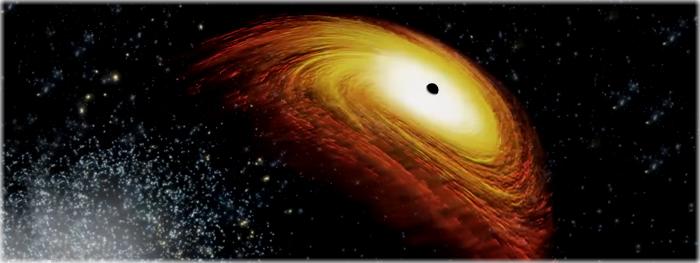buraco negro sendo ejetado de sua galáxia