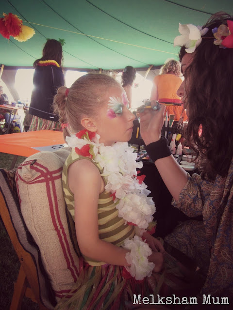 Face Painting Tent Camp Bestival 2013