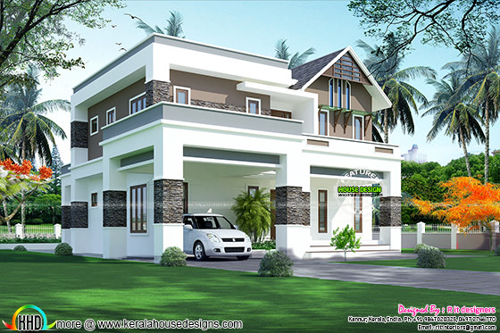 2823 sq-ft, 4 bhk modern home