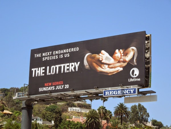 The Lottery series premiere Lifetime billboard