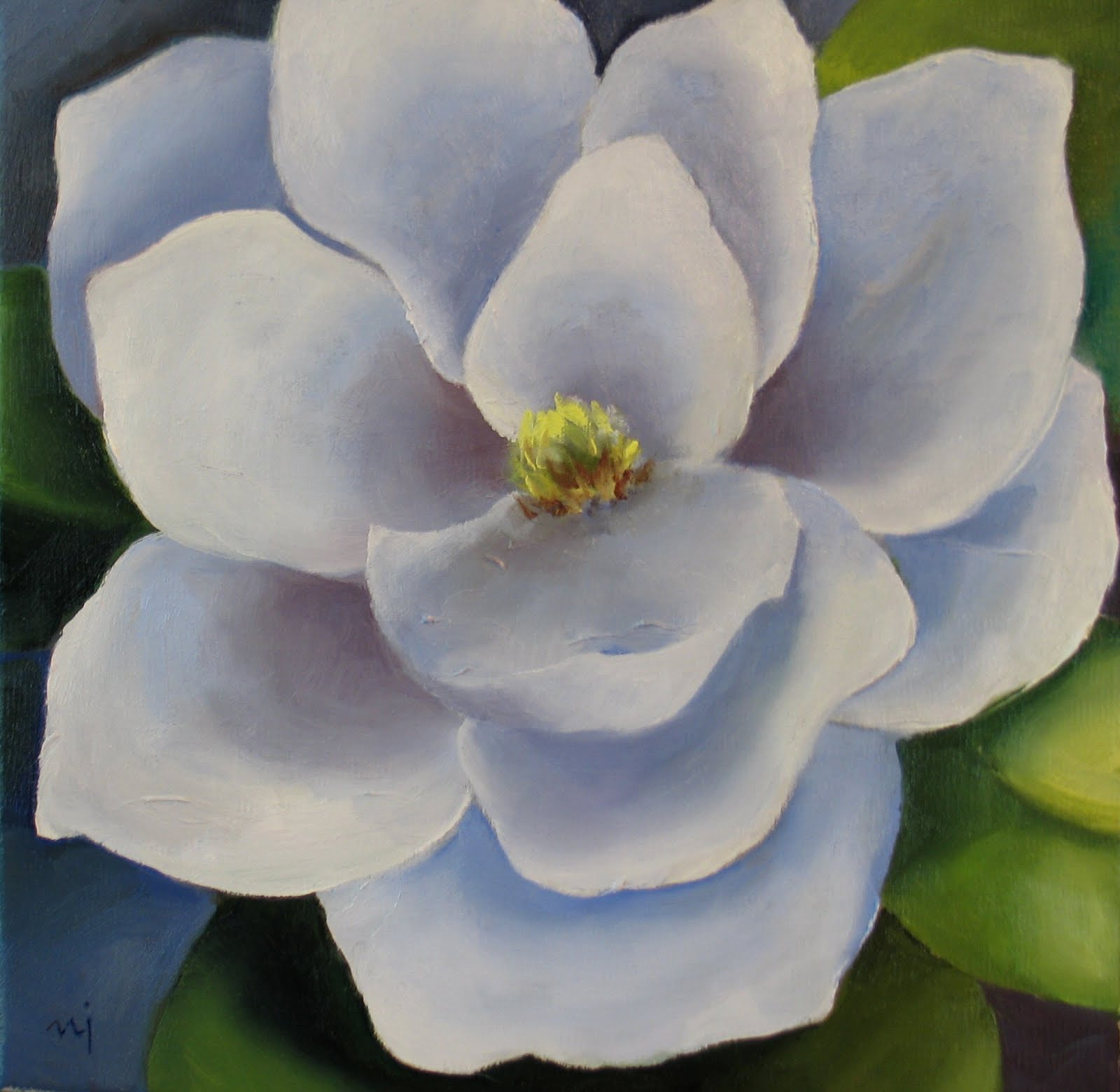 Nels Everyday Painting Simple White Floral