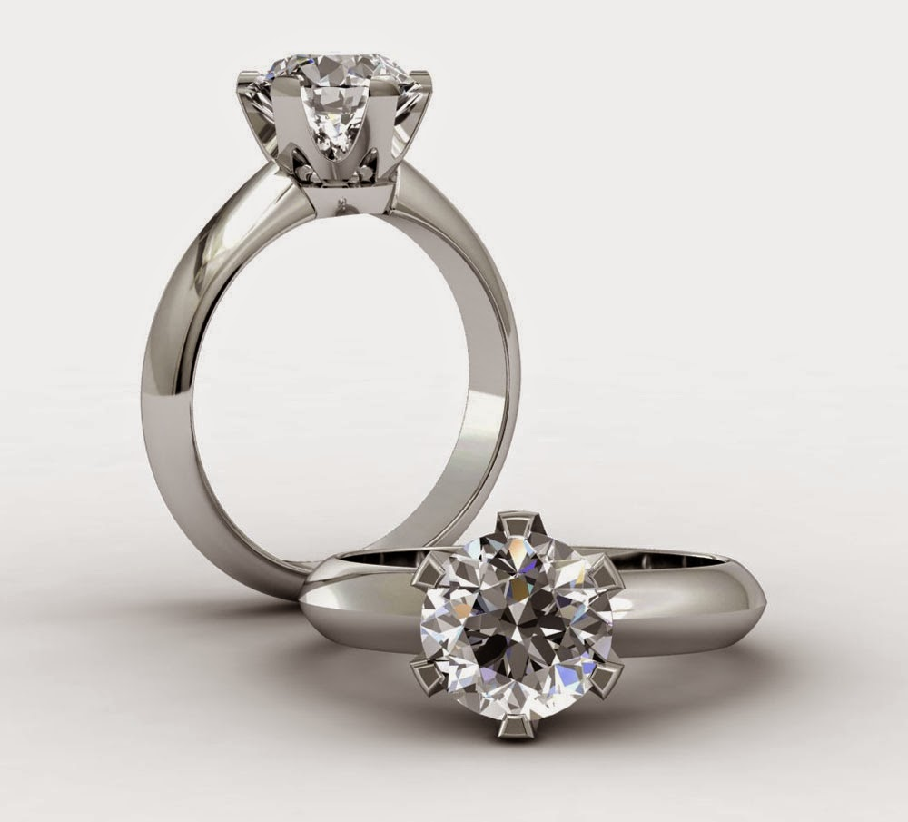 Round Solitaire Beautiful Wedding Rings & Engagement Ring