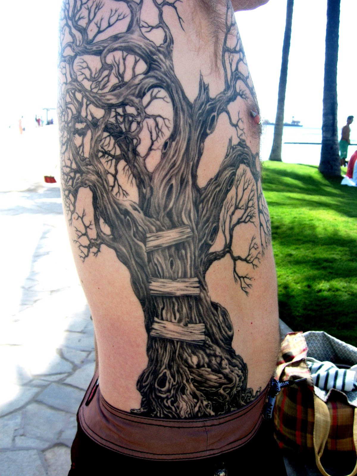 Slip With Snak: TREES, TREE TRIMMERS & A TREE TATTOO