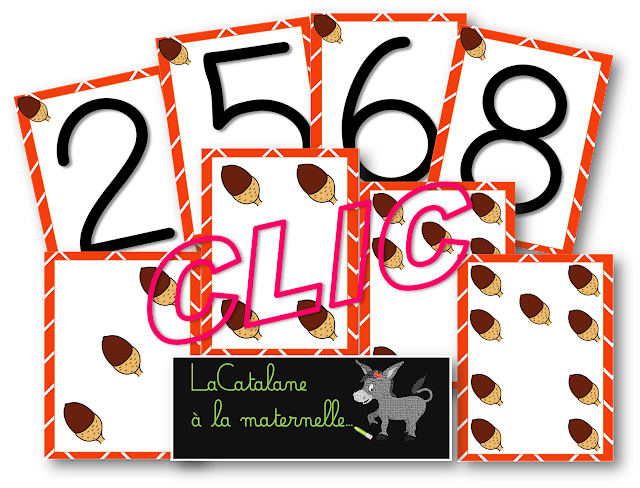 Numération 1-10 glands (LaCatalane)