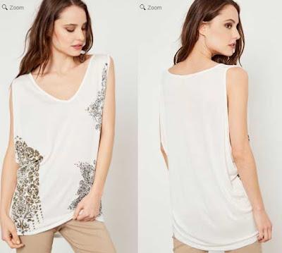 camiseta blanca con un original estampado