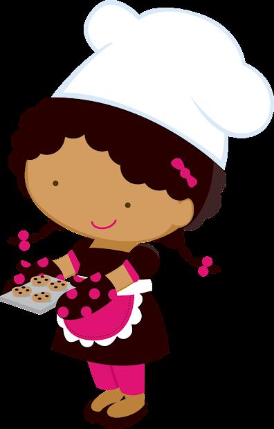 Little Girl Chefs Clipart. Fiesta Ladies