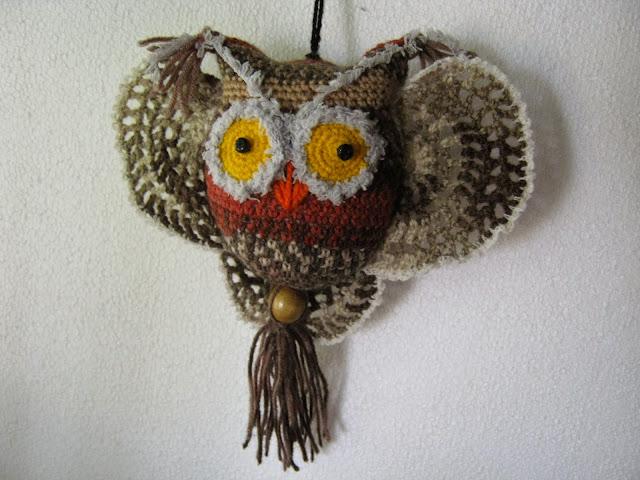 Owls crocheted