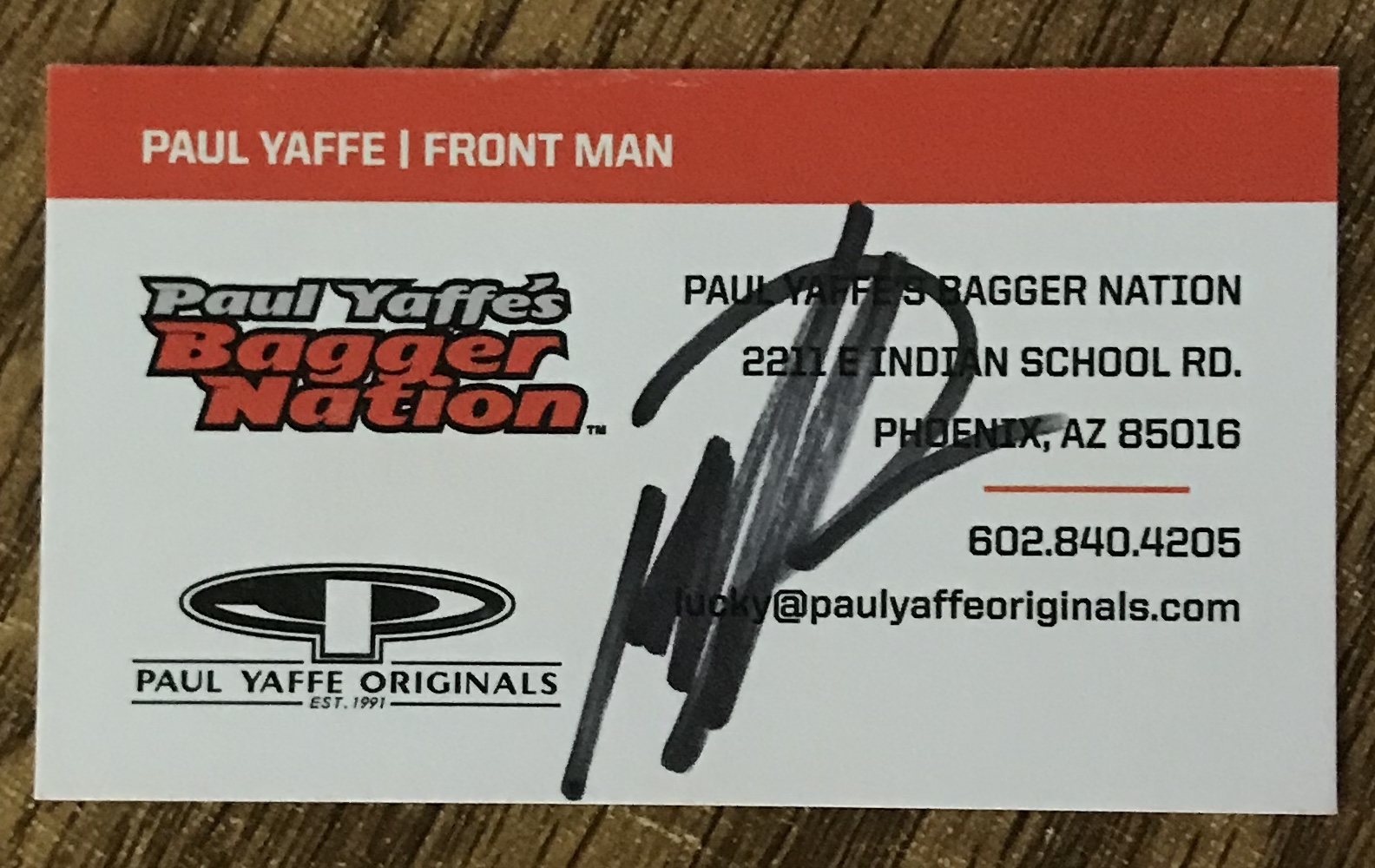 Thanks for the signed Card Paul! 4438e7c12