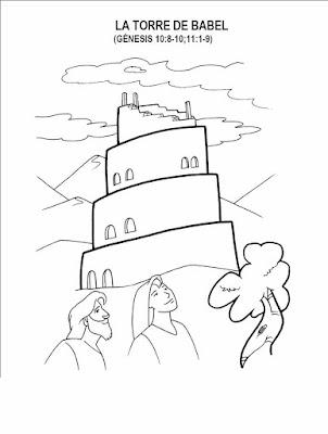 Dibujos Cristianos Para Colorear La Torre De Babel Para colorear ...
