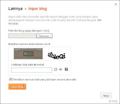 backup blog - ambil file yang akan diimpor
