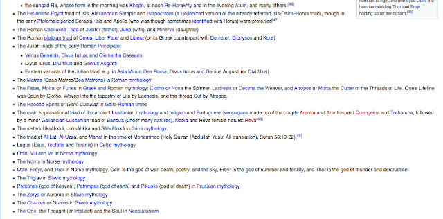 Triple deity From Wikipedia, the free encyclopedia 7