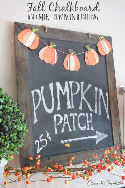 Fall pumpkin patch chalkboard sign