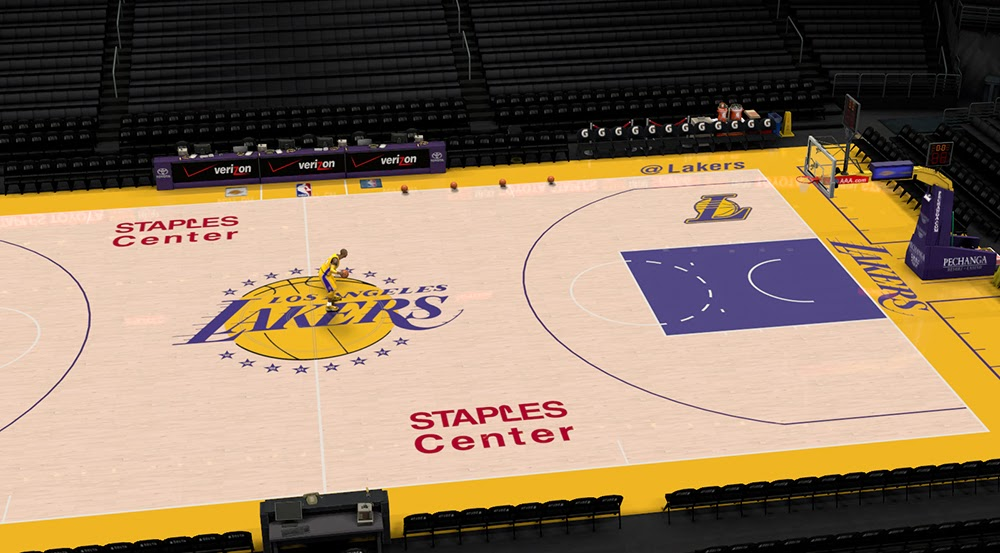 NBA 2K14 Los Angeles Lakers Court Update - NBA2K.ORG