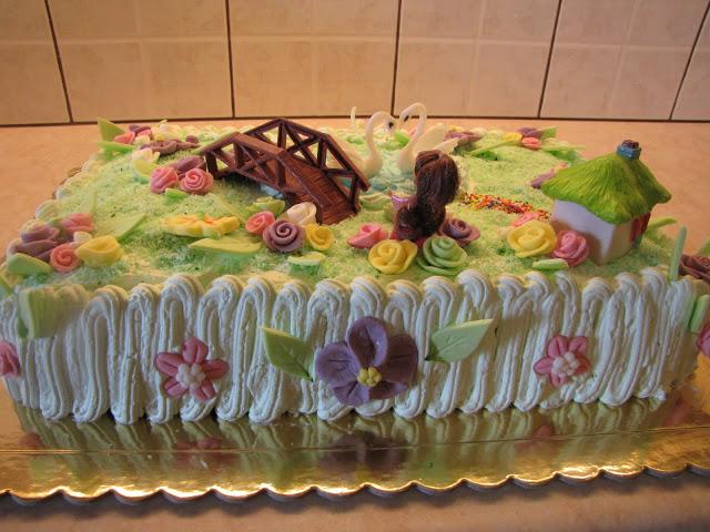 φτιάξε μόνη σου τούρτα με θέμα η λίμνη των κύκνων