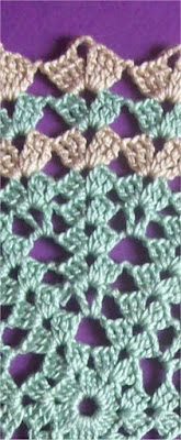 Crochet: decorative stitch 1 - Uncinetto: punto decorativo 1