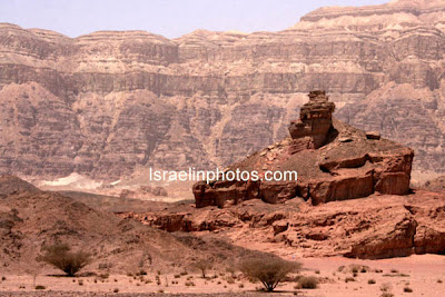 Israel Travel Guide -  Nature Reserves: Timna Park, The park contains natural phenomena: King Solomon's Pillars, the Mushroom, and Arches.