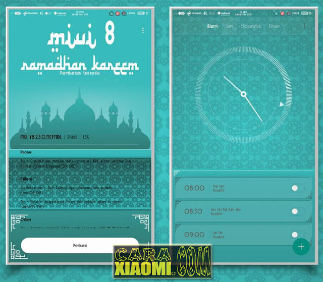 Tema Ramadhan Kareem V8 Mtz For Xiaomi MIUI Update Fix Bug: