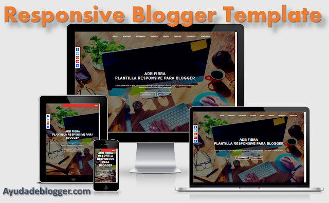 Adb Fibra Plantilla Responsive para Blogger