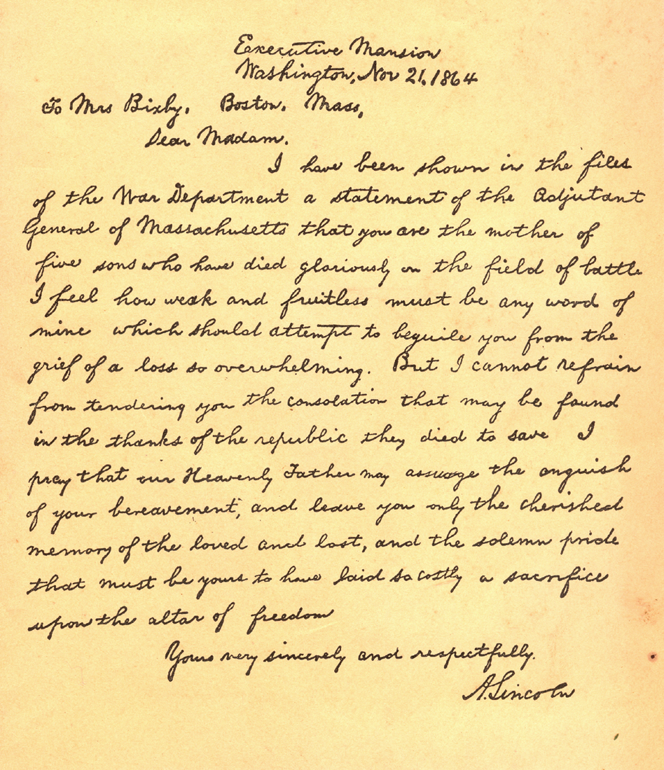 lincoln letter to mother casey artandcolour november 2012 10151 | LincolnLetter Colliers1930s