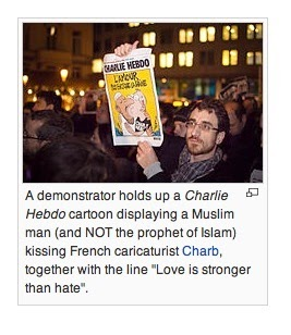 Wikipedia promotes political correctness - Charlie Hebdo shooting in Paris