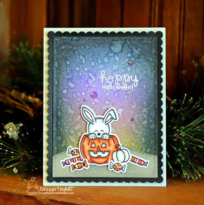 Bunny Halloween Card by Larissa Heskett | Hoppy Halloween Stamp Set by Newton's Nook Designs #newtonsnook #handmade #halloween