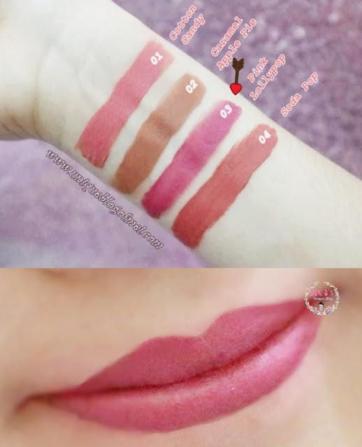 Mustika Puteri LipsLicious Lip Cream Matte Pink Lollypop swatches