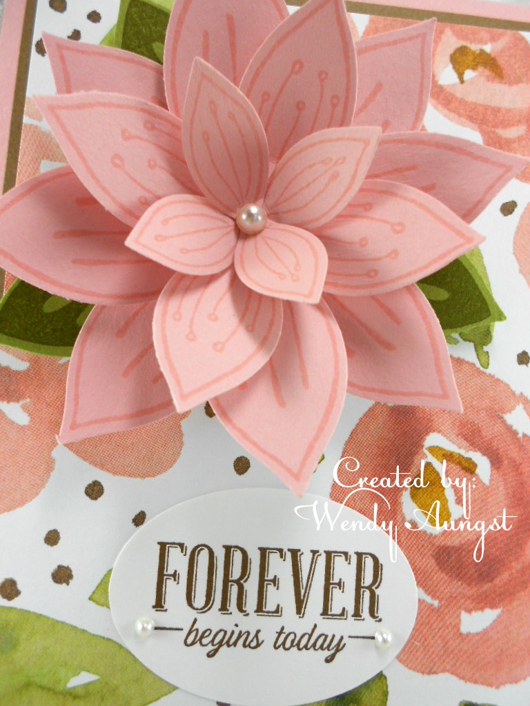 WeeBeeStampin4Fun: Friends & Flowers Wedding Card