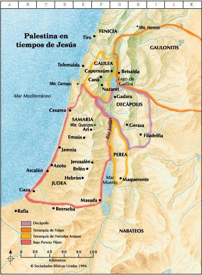 Palestina-mapa