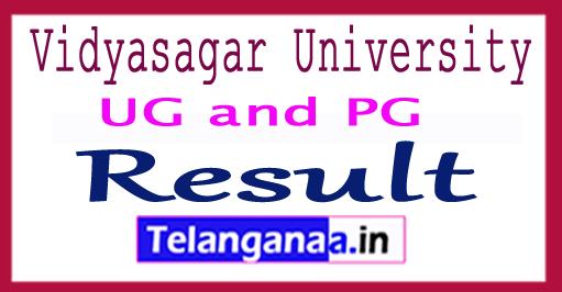 Vidyasagar University Result 2018