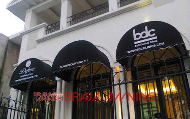 Desain Kanopi kain warna hitam untuk toko Desain Kanopi kain warna hitam untuk toko
