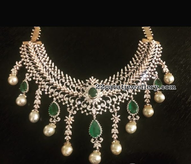 Trendy Diamond Emerald Sets by Parnicaa