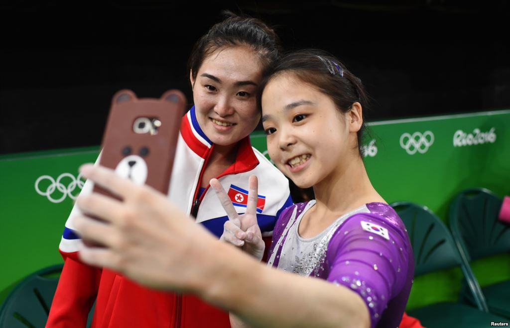 Selfie intercoreano en Río 2016 entre Lee Eun-Ju y Hong Un-Jong