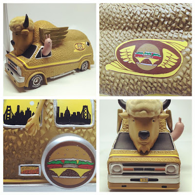 The Bison Van Hamburger Edition Vinyl Figure by Jeremy Fish x 3DRetro