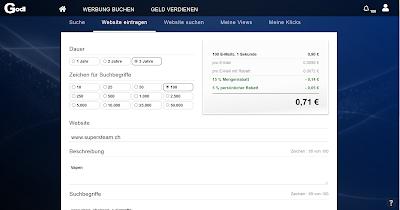 Godl.de Werbeplattform Suchmaschine