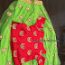 Green and Red Fancy Work Kids Lehenga