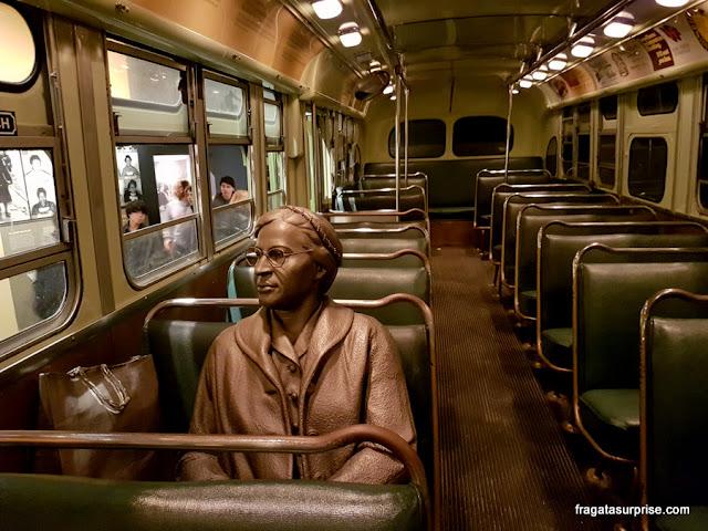 Rosa Parks no Museu Nacional dos Direitos Civis