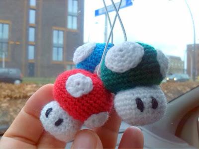 crochet amigurumi little mario mushroom