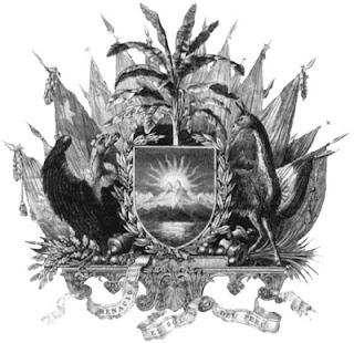 Dibujo del Primer Escudo Nacional del Perú a colores