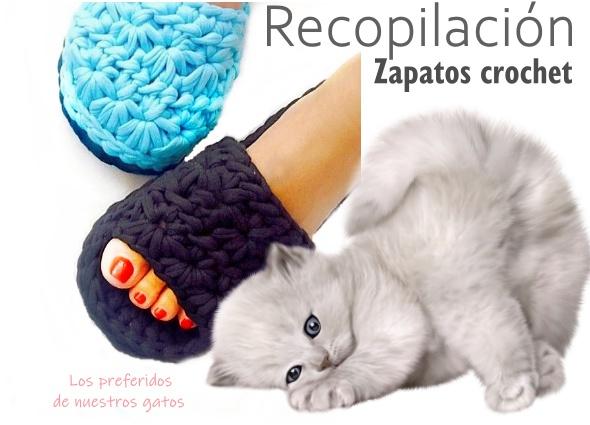 zapatos, crochet, ganchillo, patrones, tejer