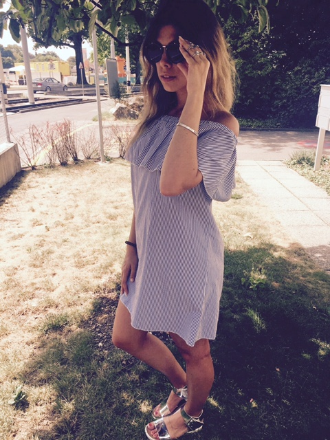 Off-Shoulder-Kleid