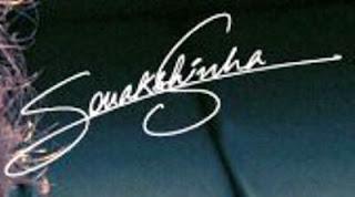 Signature of Sonakshi Sinha