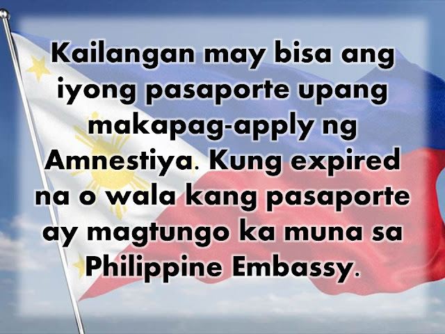"The Philippine government has pledged to repatriate some 5,000 overseas Filipino workers from Saudi Arabia. This comes days after the Saudi Government launched a new initiative to rid the country of illegal workers and residents. See 90-Day Amnesty For Illegal Workers In Saudi Arabia Starts. Read To See If You Are Qualified. In a press statement, DOLE Secretary Silvestre Bello III said: ""This is our top priority. We will do our best to process their travel documents as soon as possible.""  A team of labor officials is on process to be deployed to Saudi Arabia as soon as possible. They will set-up three processing centers where OFWs can go to facilitate their repatriation while the 90-day amnesty is still in effect. These will be in Riyadh, Al Khobar and Jeddah.  The group will be headed by POEA OIC Dominador Say, who is also the DOLE Undersecretary. As for the cost of repatriation, the Saudi Government made it clear that they will not shoulder the cost this time, unlike the amnesty program that was implemented in 2016.  As such, the Duterte administration has pledged to pay for the plane tickets of OFWs who are qualified under the amnesty program. Anyone who wants to get a free ride home should register with the processing centers stated above.   Also, DOLE and OWWA, along with the Local Employment Bureau, will provide livelihood assistance for the repatriated OFWs. The 90-day amnesty, which began March 28, covers undocumented workers with no or expired  iqamas or residence permits; and those who escaped from or were abandoned by employers. Overstaying individuals of Hajj, Umrah, or those with expired visit-visa holders are also included in the amnesty.  The amnesty applications are free and there will be no jail sentences or monetary penalties to be paid. No objection certificates will also be waived and those who are approved will be given exit visas.  To avail of amnesty, holders of valid Passports and Travel Documents and know their Iqama numbers must apply for appointment online via the Ministry of Interior's website. Those without travel documents or expired travel documents must go the the embassy first to secure a valid travel document before registering with the Ministry of Interior.  The expatriate must leave the country before the deadline. They will be exempted from the effects of the ""Deportee Fingerprint System"" which is a database of deported individuals. Persons listed in the database are banned from entering GCC Countries for a given amount of time. However, undocumented OFWs who have pending police cases or warrants, unpaid traffic violations, and bank obligations cannot avail of the amnesty.Those who will be caught after the 90-day amnesty will be subject to prison sentence, a fine of up to SR100,000 and deportation."