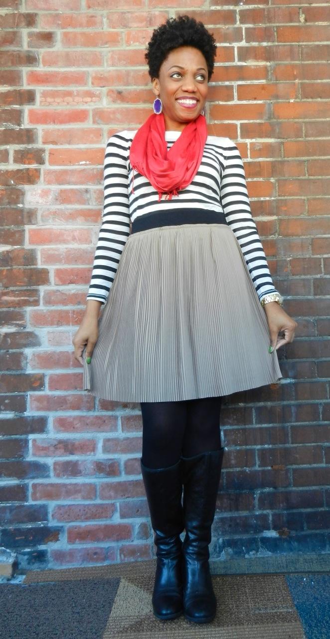 Fashion Thesaurus: Pleated Basic Skirt
