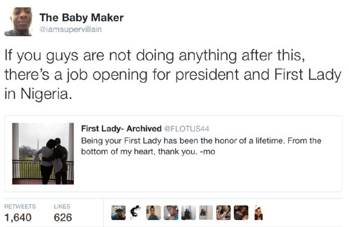 Check out what Nigerian Twitter user told Michelle Obama