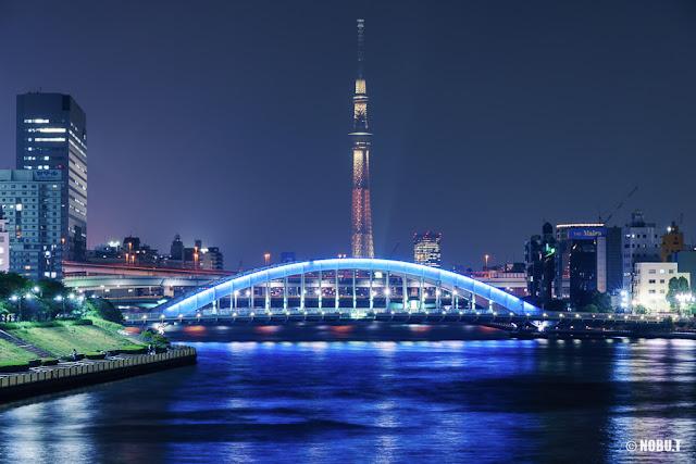 東京スカイツリー「幟」のライティング