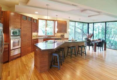 dapur minimalis mewah unik dari kayu